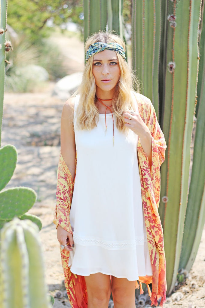dancing with flying colors wearing Noa Elle Lila White Summer Dress with lace, Ashley Prybycien
