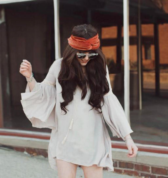 @iindiefoxx in Noa Elle Lotus Tunic - Clay