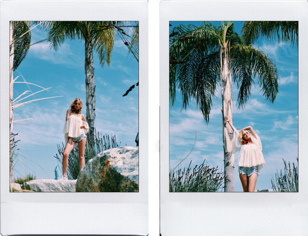 Noa Elle Rumor Top - Red Banada - Polaroid Tropical Resort 2016 Photo Shoot