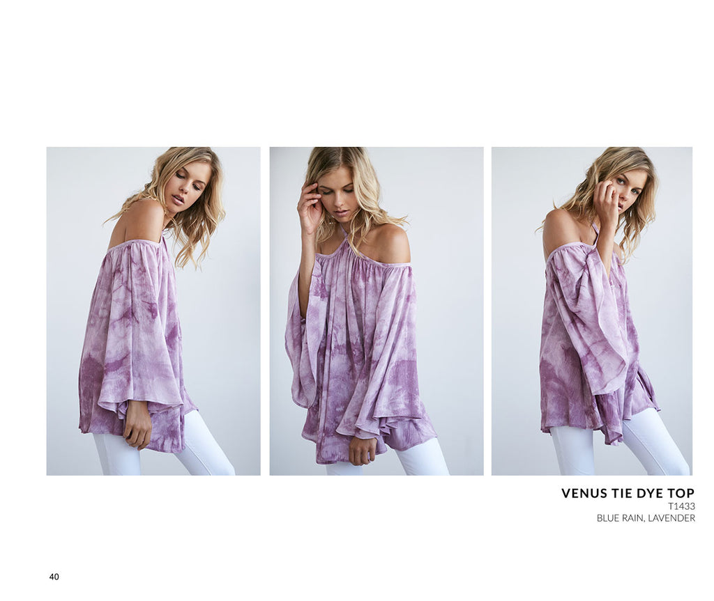 Noa Elle Resort 2017 - PurpleTie Dye Oversized Bohemian Top