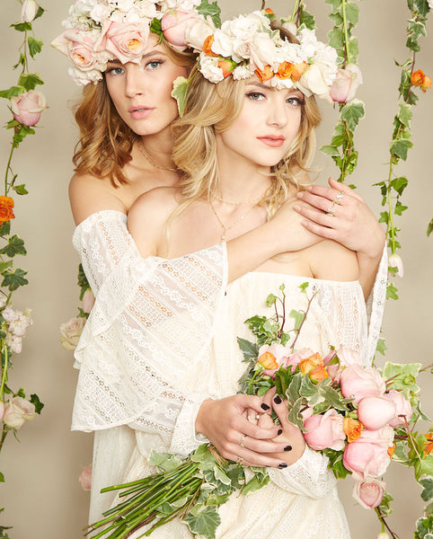 Noa Elle Spring Lookbook - Bohemian Flower Crown