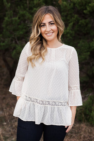 SADIE LACE TOP