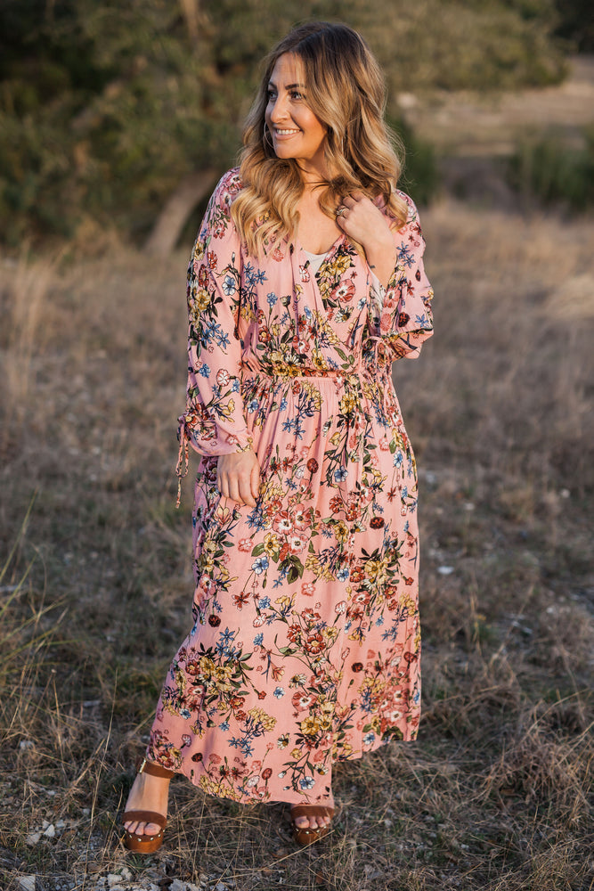 FIELD OF DREAMS WRAP DRESS