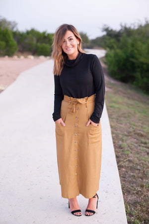 Hazelnut Midi Skirt