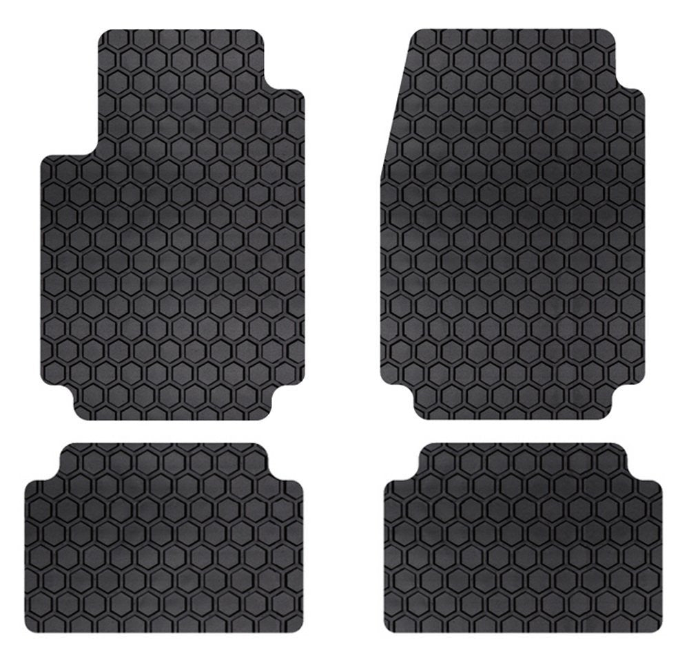 ES 350 (13-15) Intro-Tech Hexomat Front and Second Row Custom Floor Mats - LX-680-RT