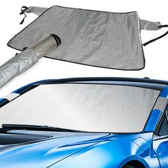 VW Beetle Convertible (03-12) Intro-Tech Custom Auto Snow Shade Windshield Cover - VW-29-S