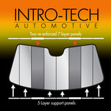 Lincoln MKZ Sedan/Hybrid w/o sensor (13-16) Intro-Tech Premium Custom Auto Sunshade Windshield - LN-36P