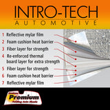 Ford Taurus w/out sensor (10-16) Intro-Tech Premium Custom Auto Sunshade Windshield - FD-98P