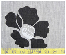 Black amapola Linen- Fat quarter-fabric-celina mancurti