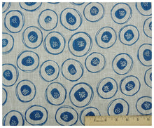 Blue Blossom Linen- Fat Quarter-fabric-celina mancurti