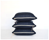 Cielo Linen Pillows - Blue-pillow-celina mancurti