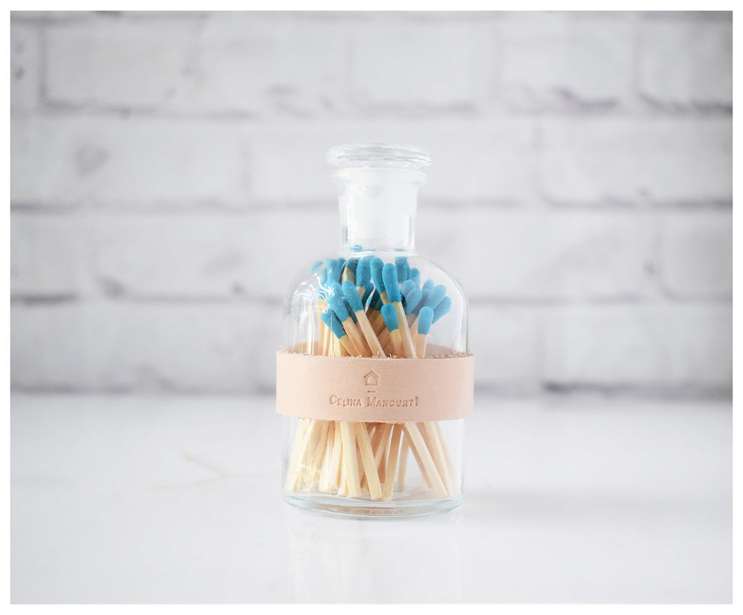 Colored Matches - Blue Tip-matches-celina mancurti