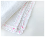 Delicious White Linen Tablecloth- Neon stitching-tablecloth-celina mancurti