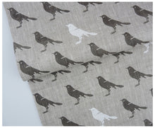 Gray Bird- Linen by the yard-fabric-celina mancurti