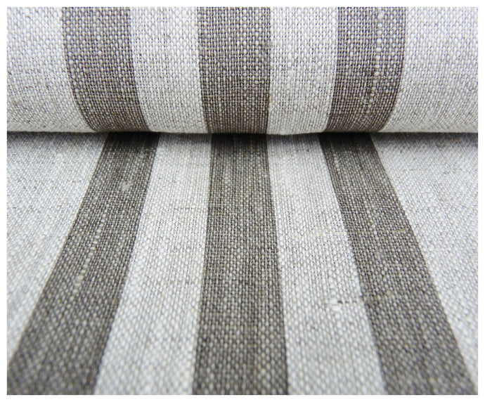 Gray Stripes- Linen by the yard-fabric-celina mancurti