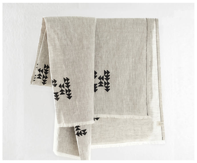 Indian Blanket - Washed Linen-blanket-celina mancurti
