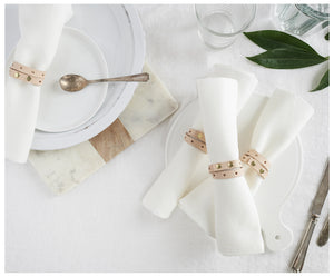 Leather Napkin Rings-napkin rings-celina mancurti