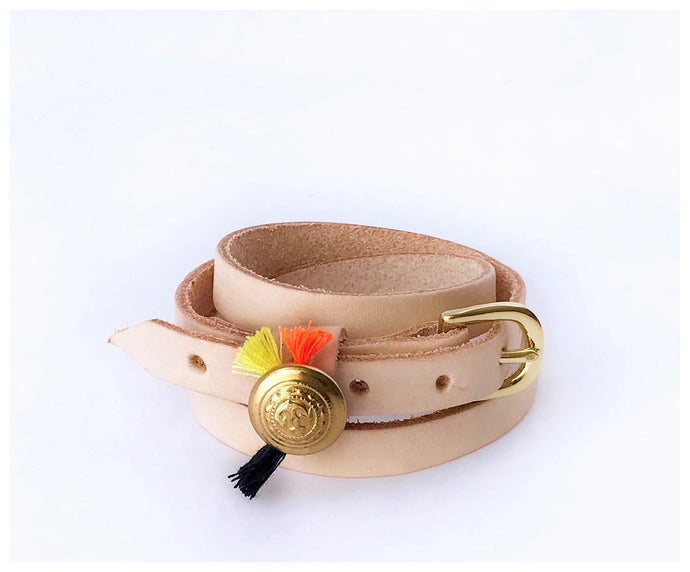 Leather Wrap Bracelet-bracelet-celina mancurti