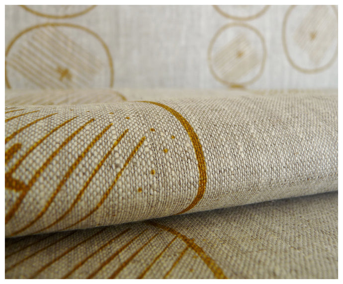Mustard Garden- Linen by the Yard-fabric-celina mancurti