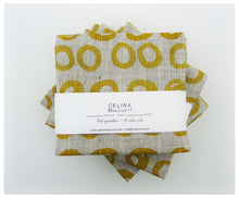 Mustard Rings Linen- Fat Quarter-fabric-celina mancurti