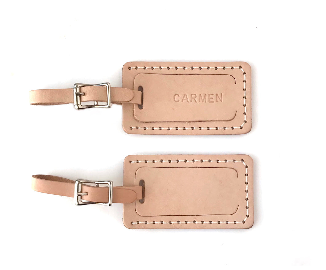 Personalized Luggage Tag - Genuine Leather-luggage tag-celina mancurti