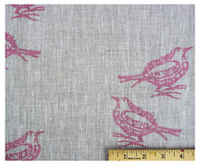 Pink Pigeon- Linen by the Yard-fabric-celina mancurti