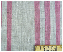 Pink Stripes- Linen by the Yard-fabric-celina mancurti