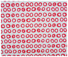 Red Rings Linen- Fat Quarter-fabric-celina mancurti