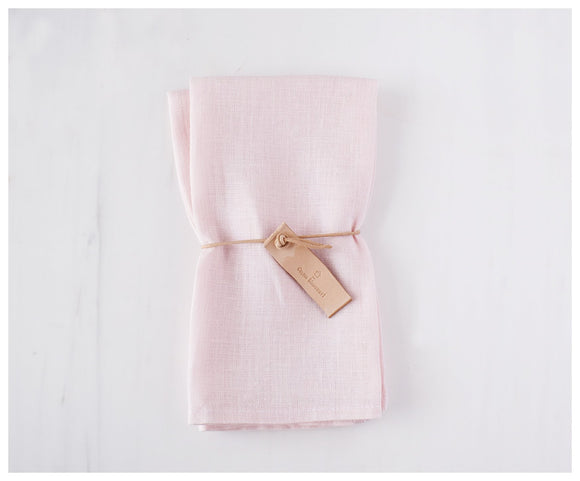 Soft Pink Linen Napkins ( Set of 2 )