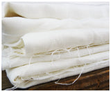 Solid White Linen by the Yard-fabric-celina mancurti