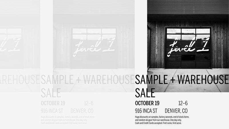 Sample + Warehouse Sale