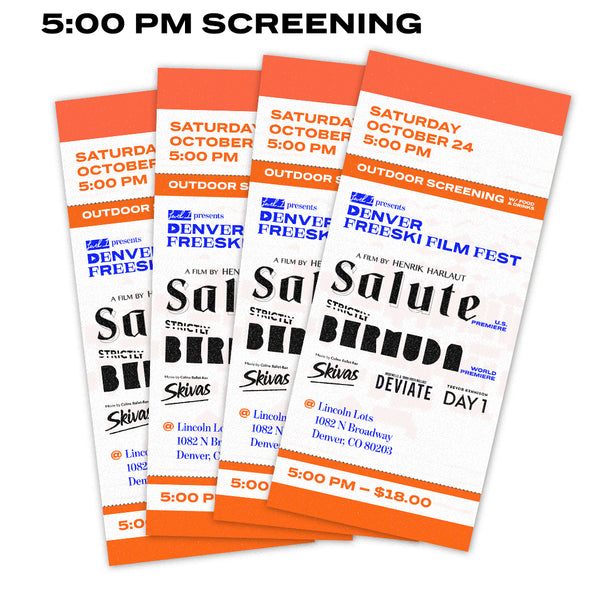 DFFF 5:00 PM Screening Tickets