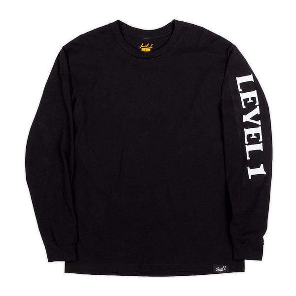 Level 1 Black Long Sleeve Shirt Triangle Logo