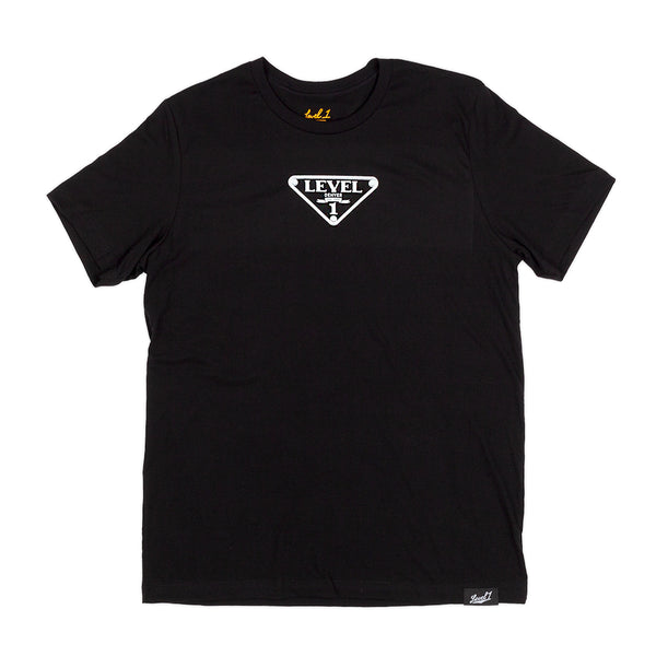 Level 1 Black Shirt Triangle Logo