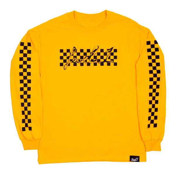 Grid Long Sleeve T