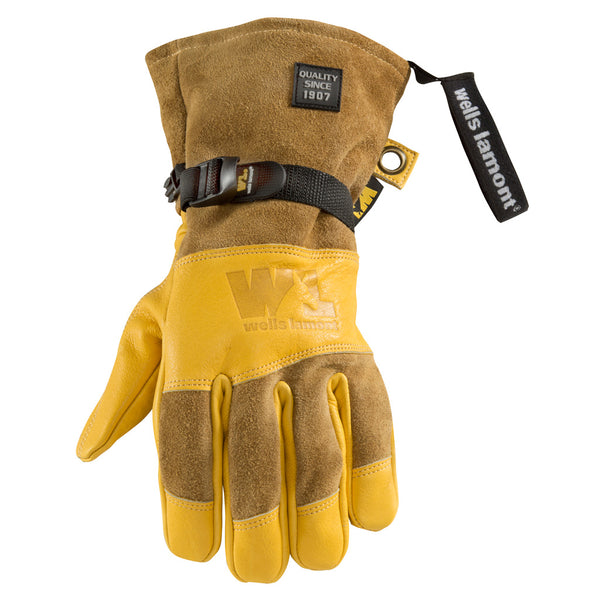 Wells Lamont HydraHyde Leather Gloves with Cuff