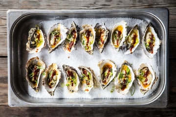 Grilled BBQ Oysters