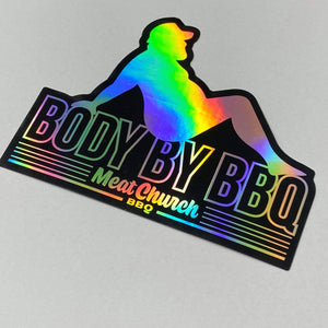 Body By BBQ Holographic Sticker
