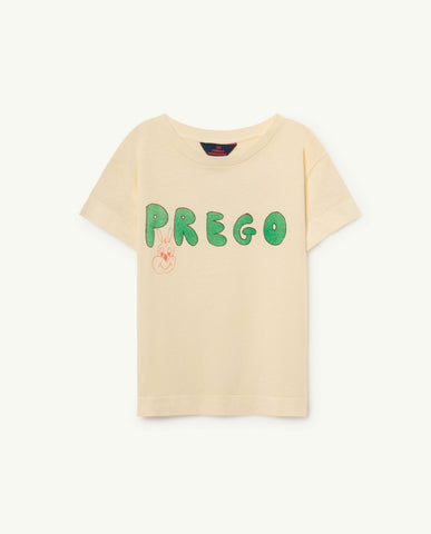 The Animals Observatory TAO Rooster T-shirt - Yellow Prego