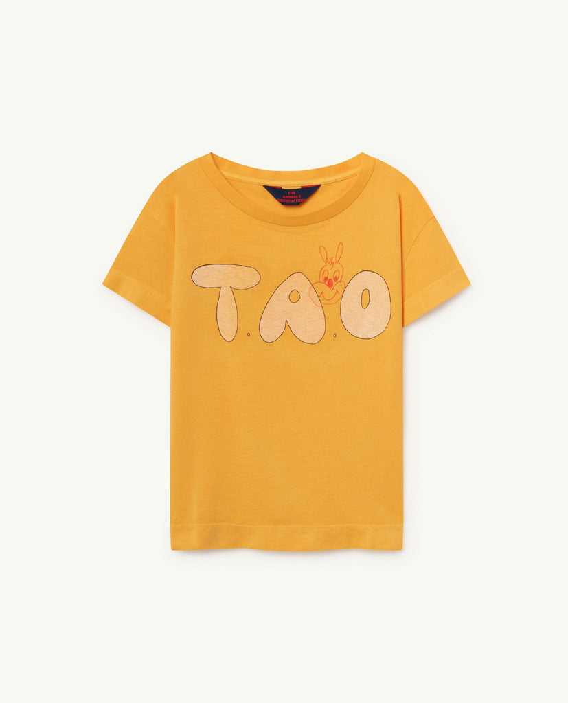 The Animals Observatory TAO Rooster T-shirt - Yellow TAO