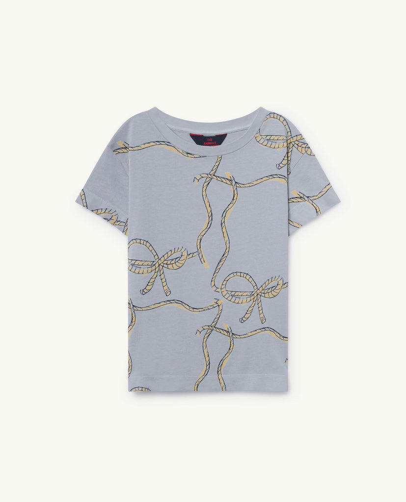 The Animals Observatory TAO Rooster T-shirt - Blue Ropes