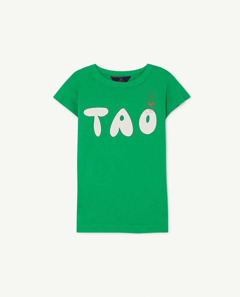 The Animals Observatory TAO Hippo T-shirt - Green