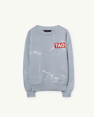 The Animals Observatory TAO Bear Sweatshirt - Blue Splashes