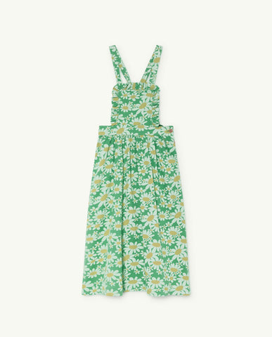 The Animals Observatory TAO Cow Dress - Green Daisies