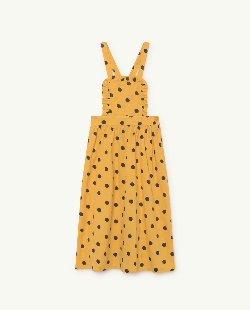 The Animals Observatory TAO Cow Dress - Yellow Polka Dots