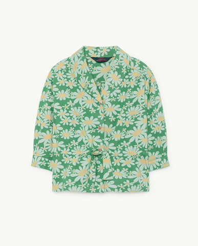 The Animals Observatory TAO Marmot Shirt - Green Daisies