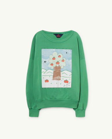 The Animals Observatory TAO Big Bear Sweatshirt - Green Landscape