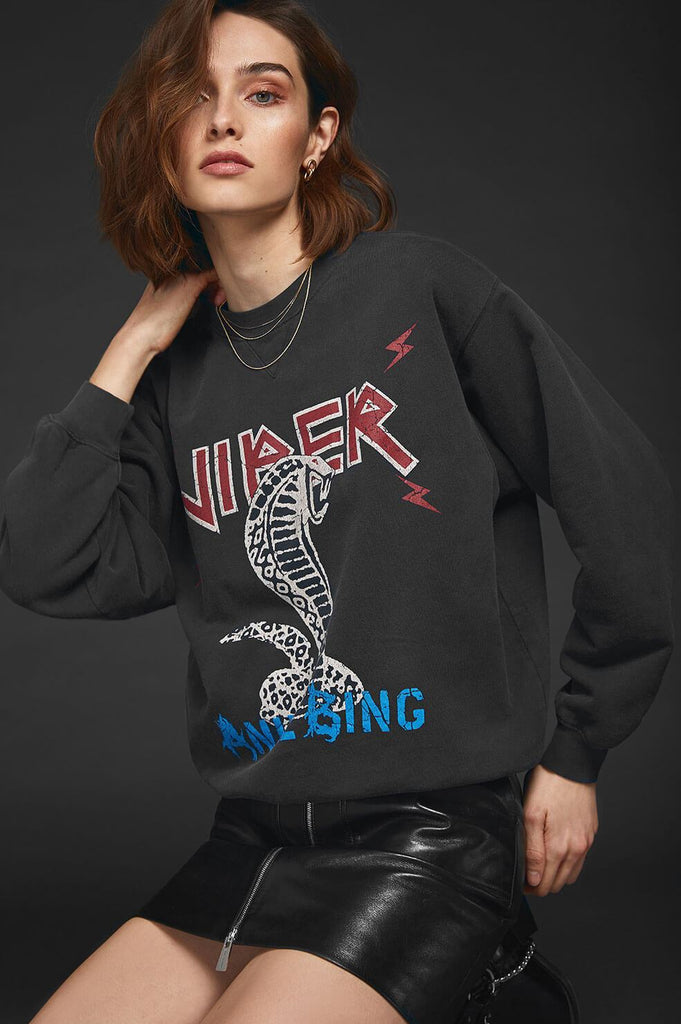 Anine Bing Serpent Sweatshirt - Black
