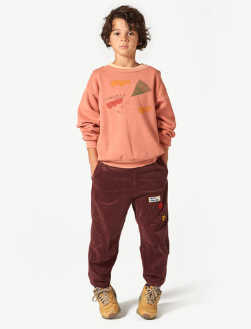 The Animals Observatory Bear Orange Kite Sweatshirt