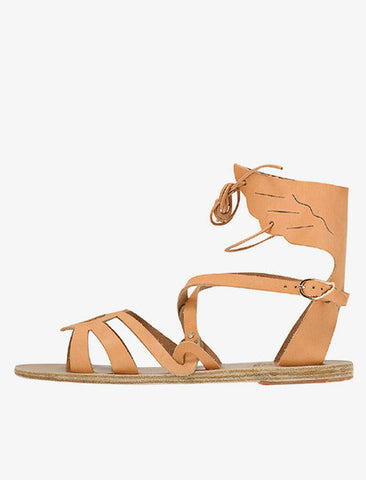 [Ancient Greek Sandals] Elpida Flat Sandal - Natural